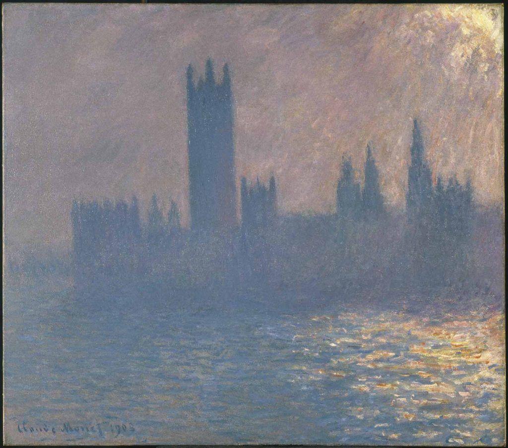 Cuando los impresionistas franceses se exiliaron en Londres Artes & contextos 19. Claude Monet House of Parliament Sunlight Effect