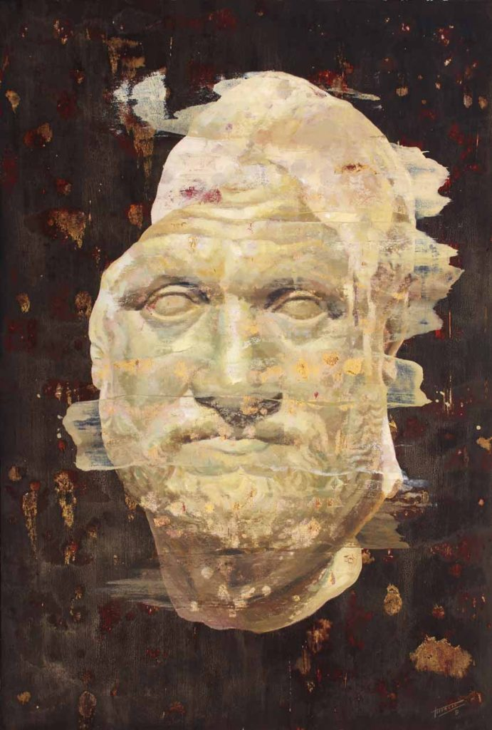 Torregar: reflexión sobre El concepto de la eternidad Artes & contextos Retrato de hombre tecnica mixta sobre papel 112 x 76 cm 2017