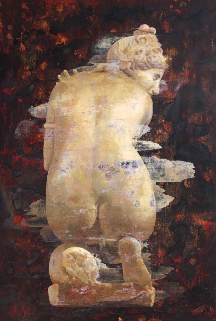 Torregar: reflexión sobre El concepto de la eternidad Artes & contextos Venus pudica tecnica mixta sobre papel 112 x 76 cm 2017