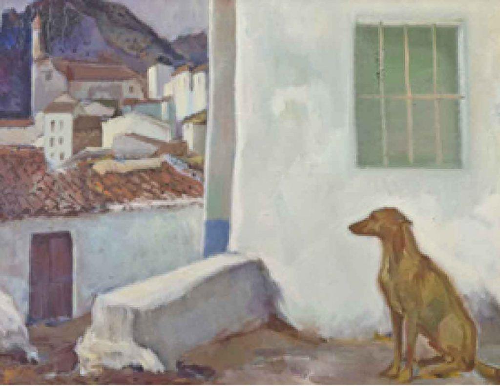 Lucio Sobrino regresa a Medina del Campo Artes & contextos pueblo blanco con perro