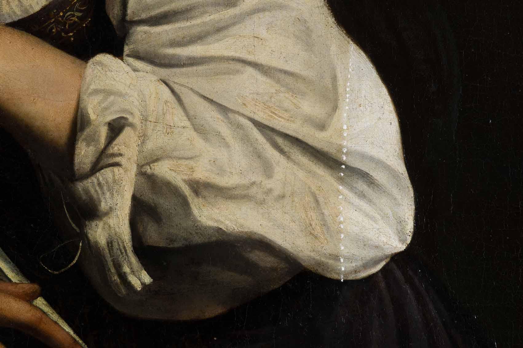 """Caravaggio: """"Santa Catalina de Alejandría"""" Artes & contextos Proceso de restauracion 04 sin"""