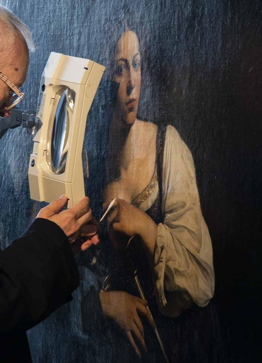 """Caravaggio: """"Santa Catalina de Alejandría"""" Artes & contextos Ubaldo Sedano restaurando GRND"""