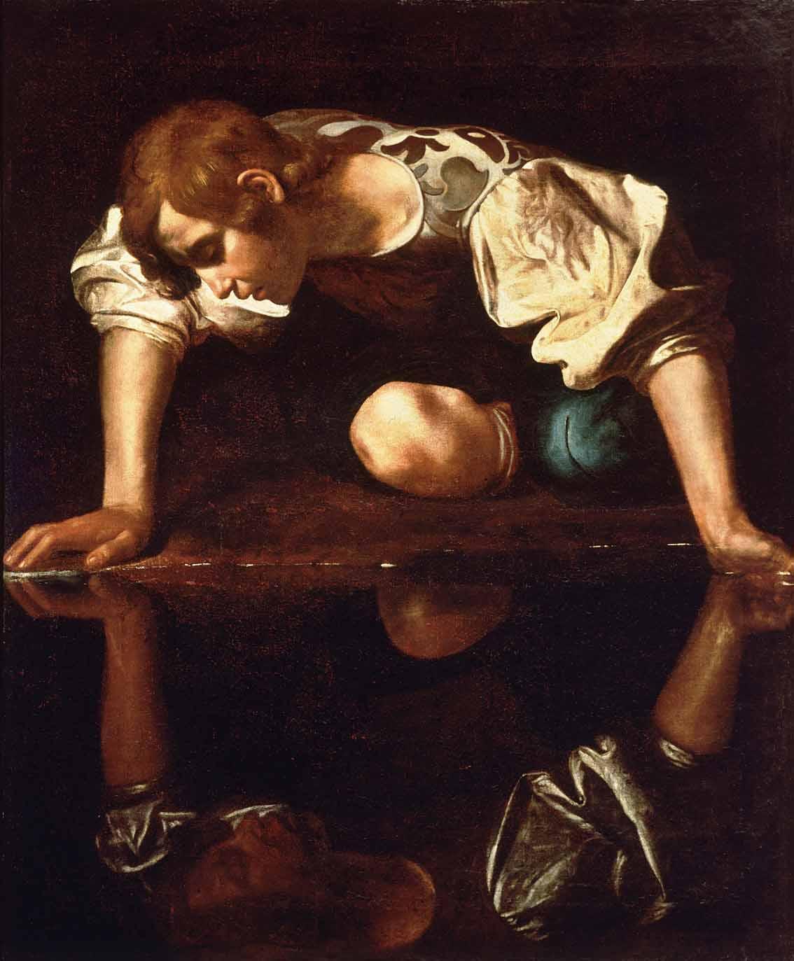 Narciso y sus distintas lecturas iconográficas Artes & contextos Narcissus Caravaggio 1594 96