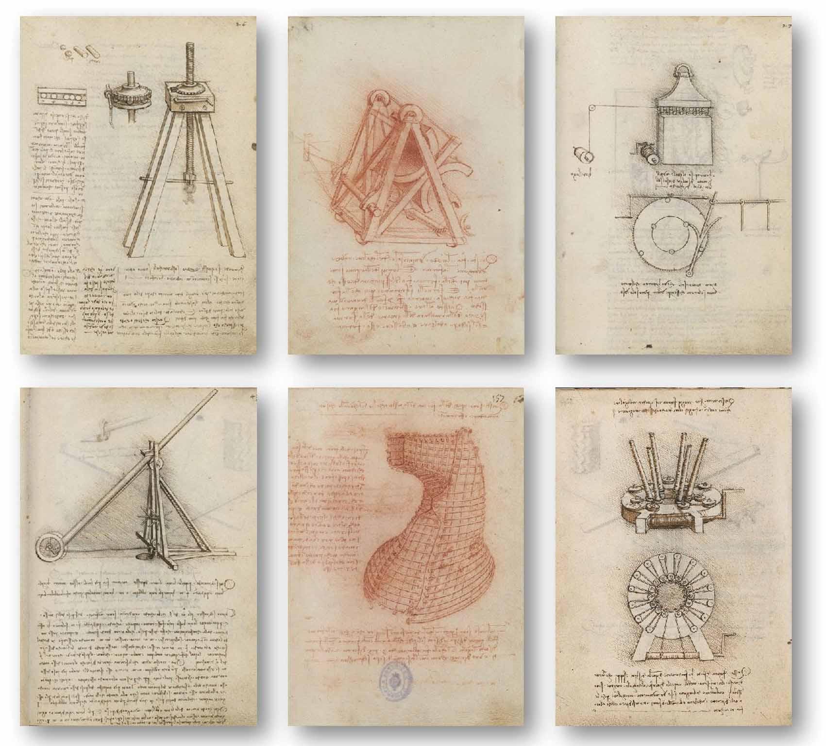 Leonardo da Vinci: el genio, el hombre Artes & contextos codices interiores