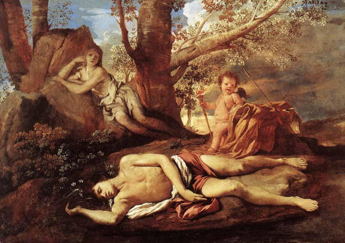 Narciso y sus distintas lecturas iconográficas Artes & contextos poussin echo narcissus 1628