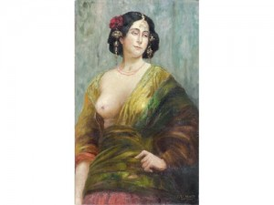 Eduardo Chicharro (1873-1949), óleo sobre lienzo 100 X 60,5 cm