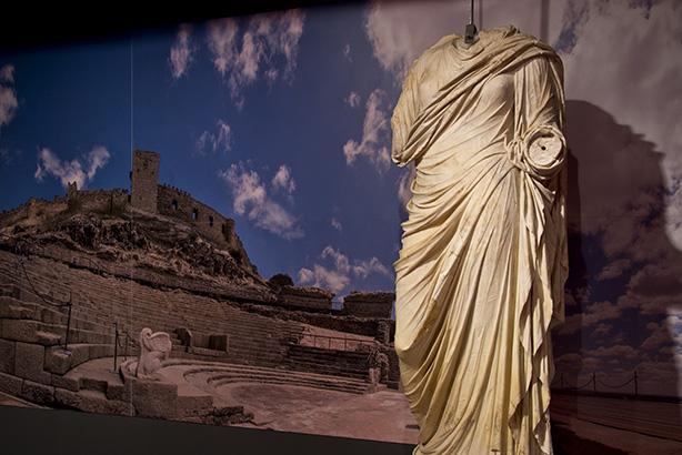 Dama de Medellín, cortesía del Museo de Badajoz. Ámbito V: La provincia romana de Lusitania.