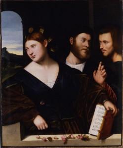 Alegoría del amor, por Bernardino Licinio, 1520.