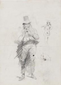 Estudio de músico italiano, mosquetero y gato de Ignacio Pinazo, 1876. Exposición IVAM.