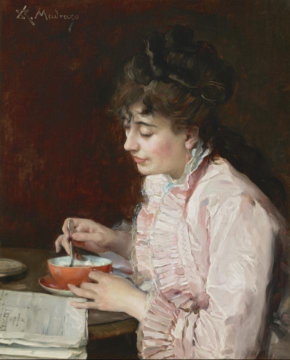 Retrato de una dama, por Raimundo Madrazo, 1890-91, una de las últimas adquisiciones del museo.