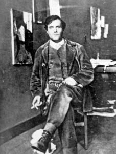 Amedeo Modigliani en su estudio en 1915.