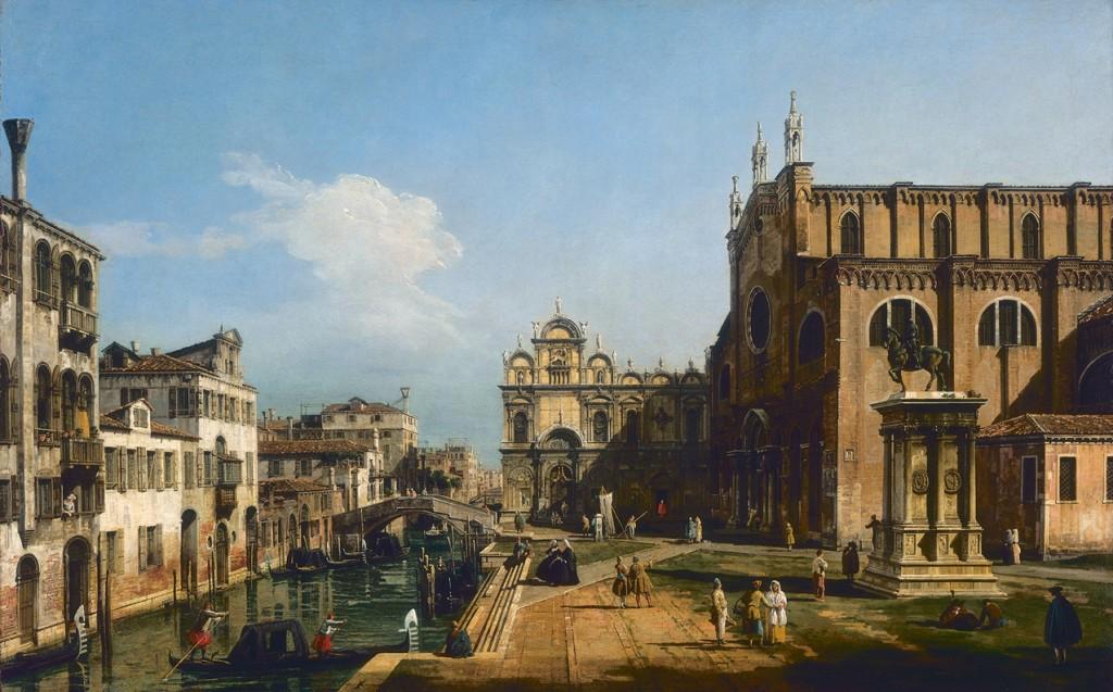 Río del Mendicanti y la Escuela de San Marcos, hacia 1740