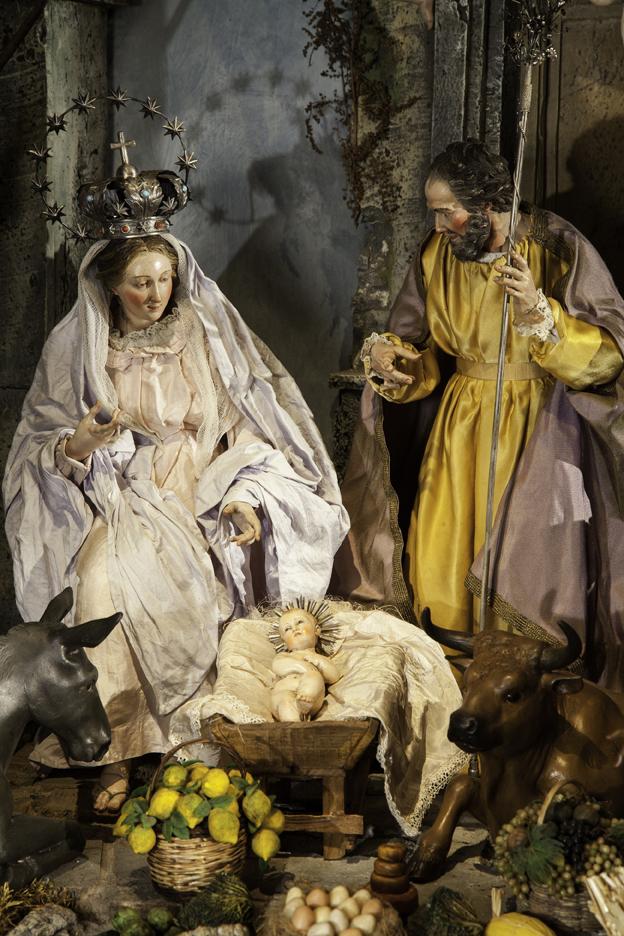 Todas las imágenes pertenecen al belén napolitano de los duques de Cardona, expuesto en el CentroCentro Cibeles de Madrid. Cortesía de Centro Centro Cibeles.