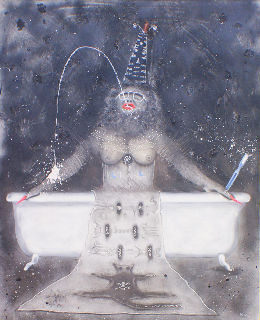 """""""Sin título"""", por Josep Uclés, acrílico sobre lienzo, 100 x 81 cm. Precio de salida, 1.200 €."""