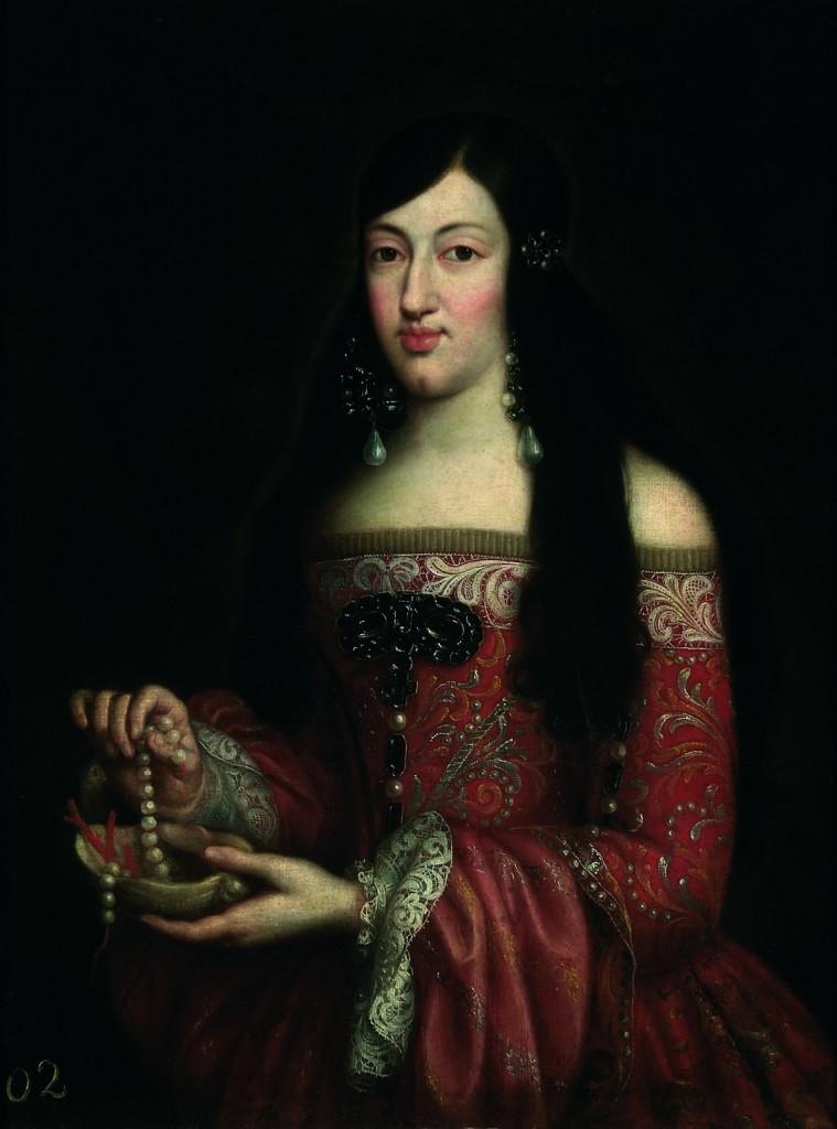Reina María Luisa de Saboya, óleo sobre lienzo, 84 x 67 cm, h. 1679, Colección Caja Cantabria, Santillana del Mar (Cantabria).