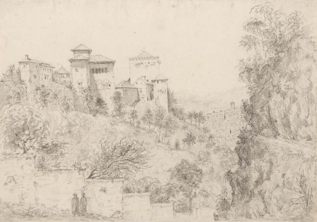 Granada. Alhambra. Vista desde la Cuesta del Rey Chico.