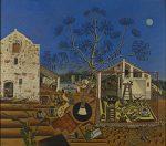 La masía, por Joan Miró, óleo sobre lienzo, 123,8 x 141,3 cm.