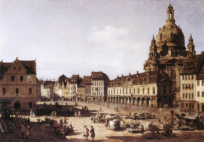 Nuevo mercado en Dresden, 1750.
