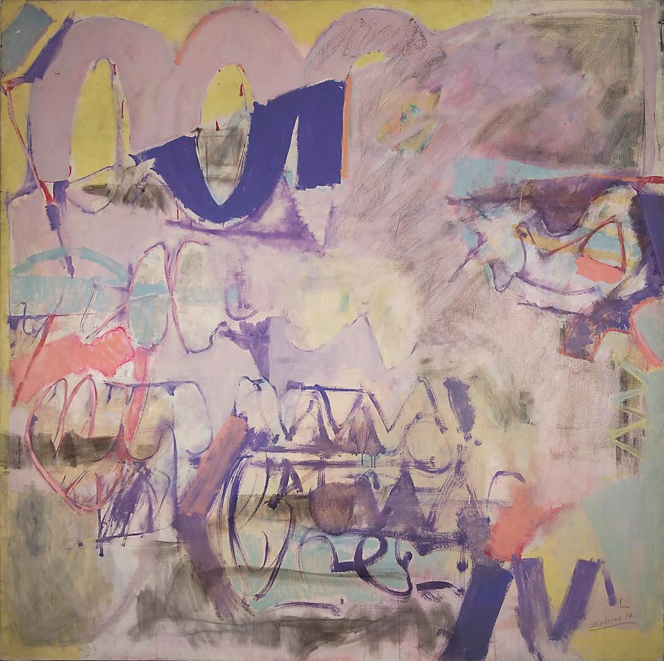 Arabesco azul, 1982, óleo sobre tela, 190 x 190 cm, Madrid, Fundación Almela-Solsona.