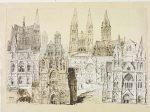 Diseños para la catedral de Truro, por William Burges, 1878.
