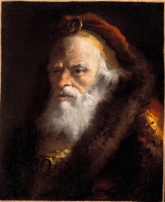 Cabeza de anciano, por Giandomenico Tiepolo, h. 1757-59, Colección Banca Popolare di Vicenza.