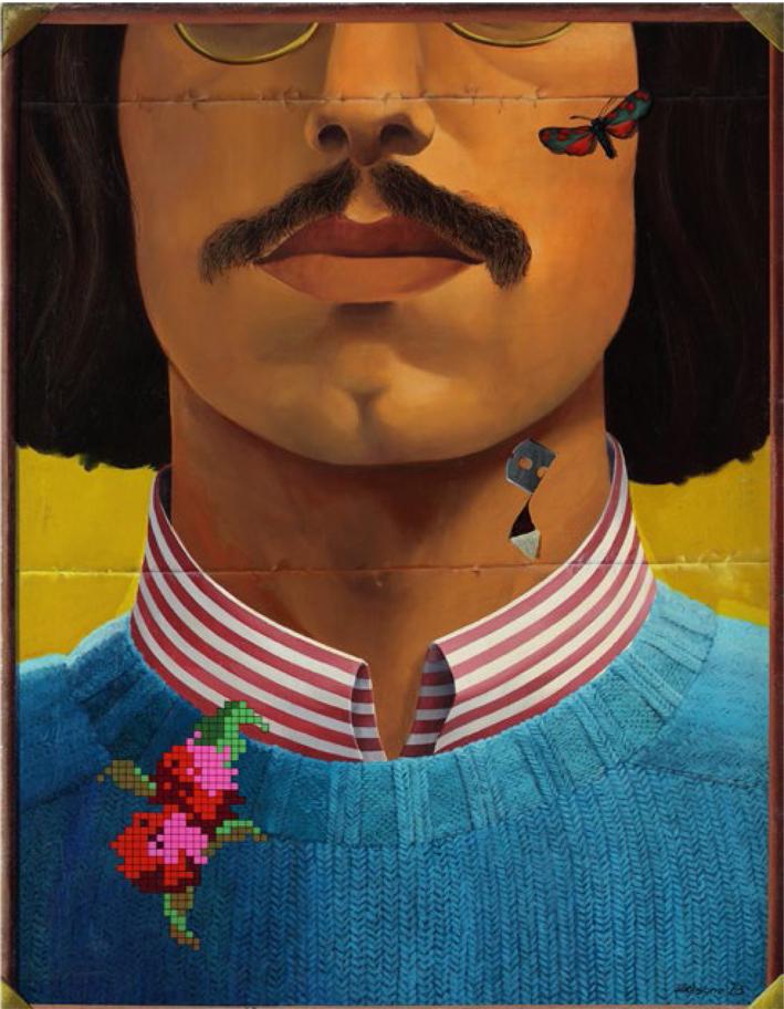 Autorretrato, 1973, óleo sobre tela, 115 x 88 cm, Colección Fundación Juan March, Madrid.