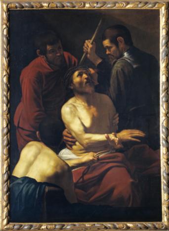 Coronación de espinas, por Caravaggio, 1602-1603, Colección Banca Popolare di Vicenza.