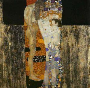 Las tres edades de la vida, por Gustav Klimt, 1905.