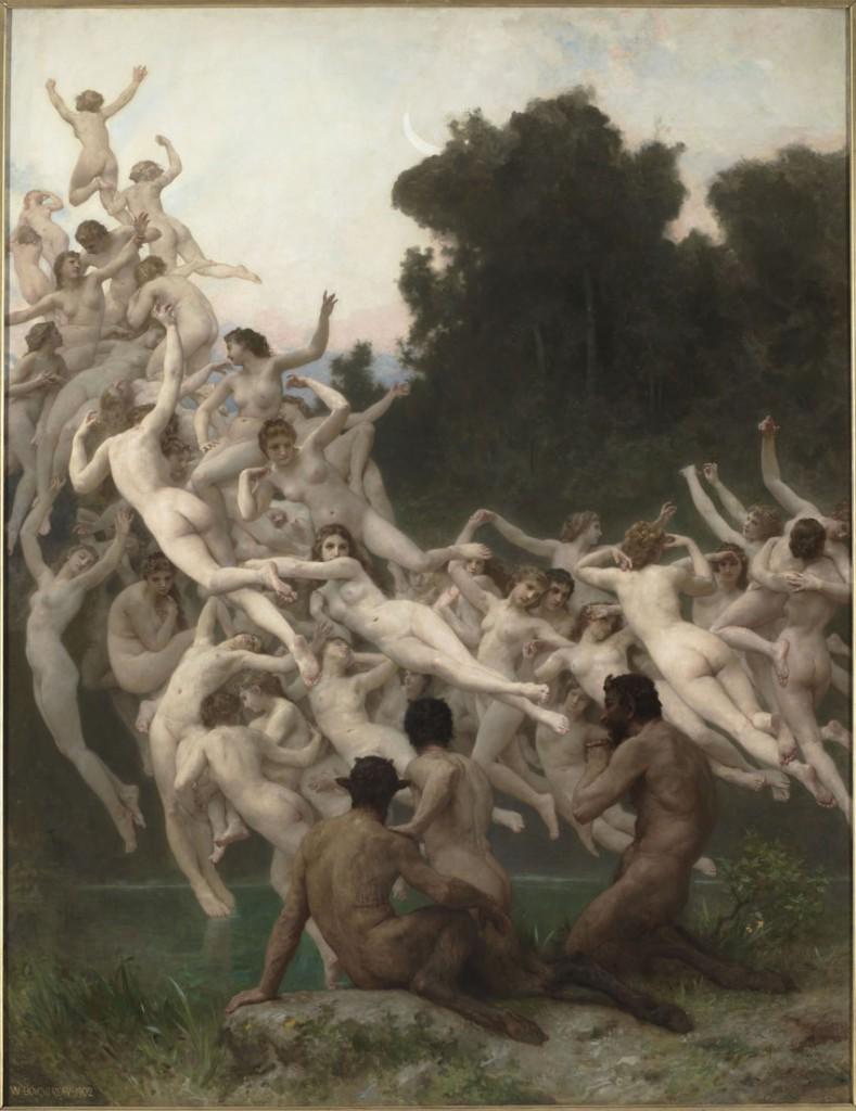 """""""Las oréades"""", de William Bouguereau,  1902, óleo sobre lienzo, 237,5 x 181,5 cm, París, Musée d'Orsay © Musée d'Orsay, Dist. RMN-Grand Palais / Patrice Schmidt."""