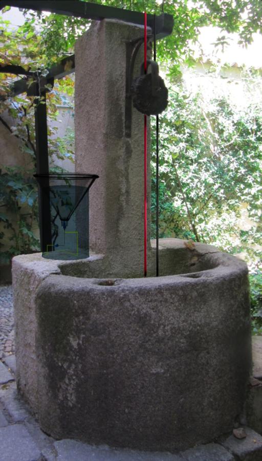 Instalación del artista Carlos Bonil en el pozo del jardín de la Casa-Museo Lope de Vega de Madrid,
