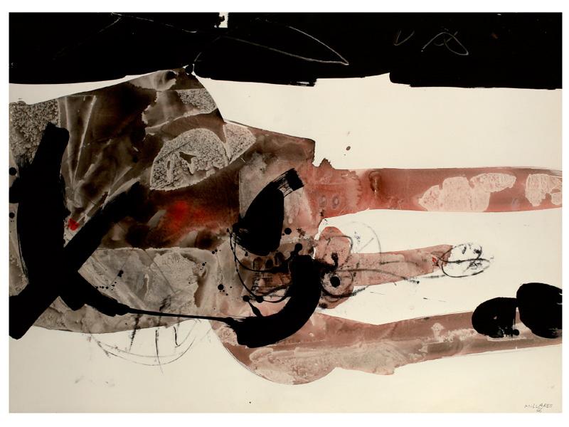 Obra de Manolo Millares.