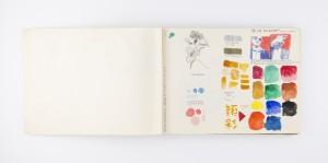 Cuaderno bolivariano, técnica mixta sobre papel, 16 x 21 cm.