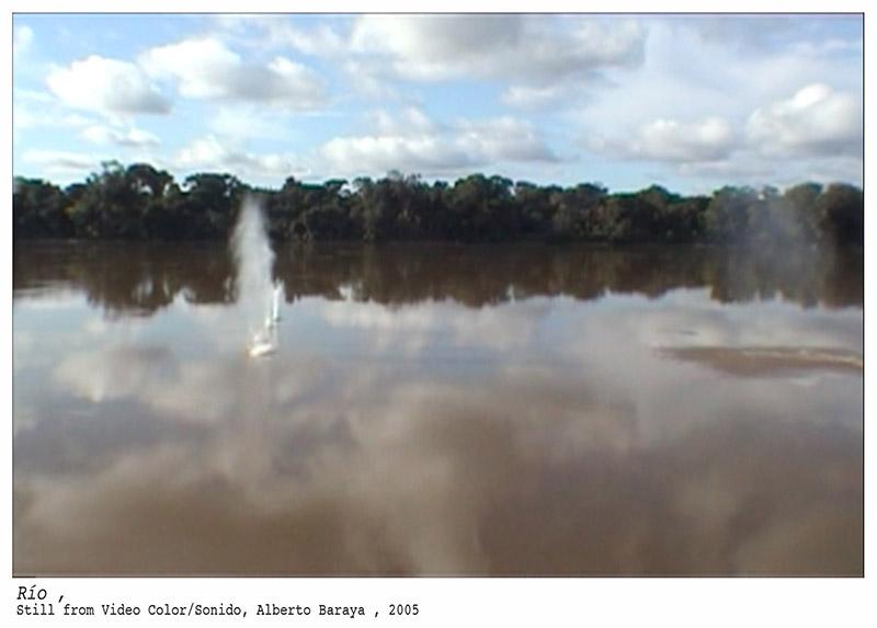 Río, por Alberto Baraya, vídeo, 2005.