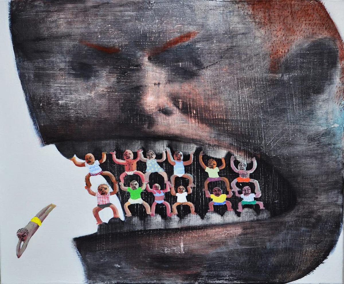"""""""Go"""", de Lai Wei-Yu, en la galería Yiri Arts de Taiwan."""