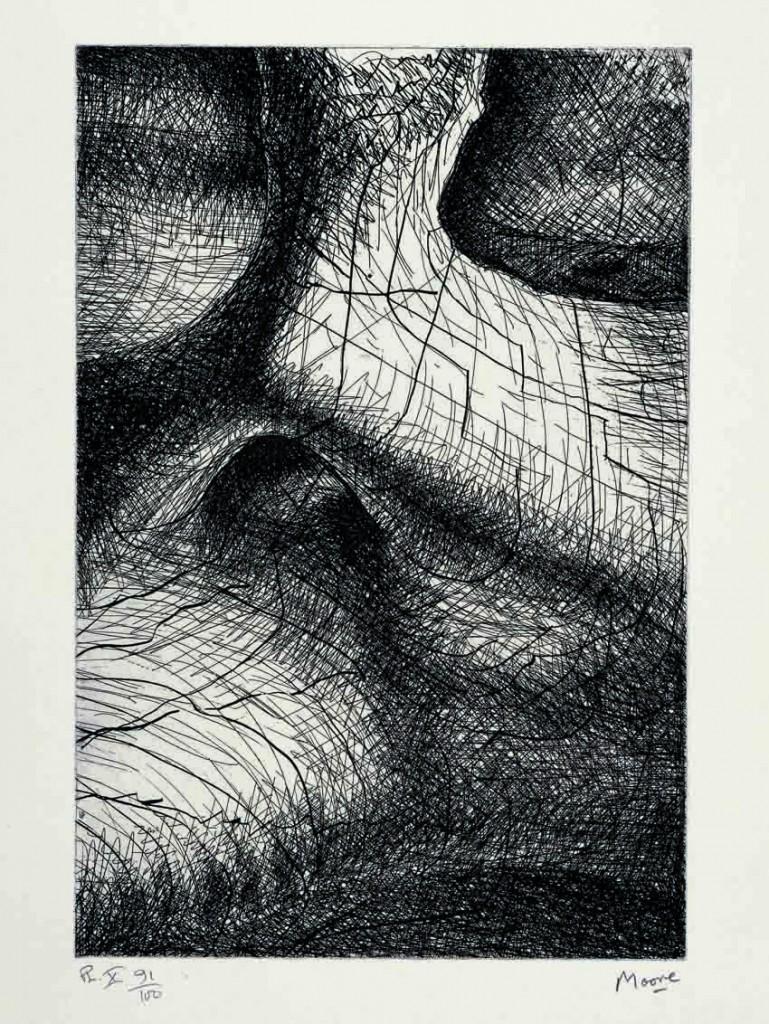 Cráneo de elefante, de Henry Moore, 1970.
