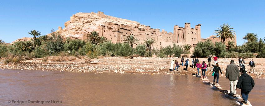 Conjunto urbano de Ait Ben Hadu, Marruecos.  © Enrique Domínguez Uceta