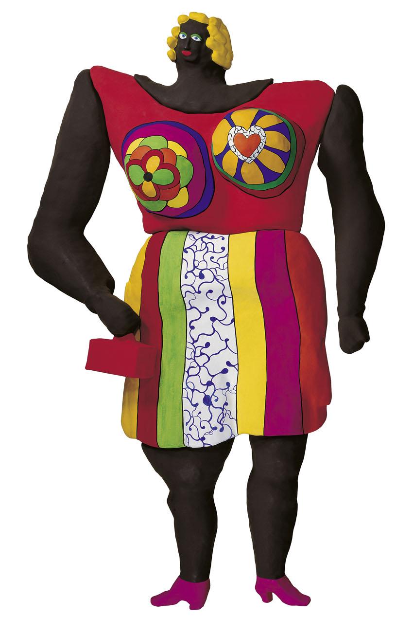 Dolores, 1966–95, poliéster pintado sobre rejilla, 550 cm de alto, Sprengel Museum, Hanóver, donación de la artista, 2000 © Niki Charitable Art Foudation, Santee, EE UU.