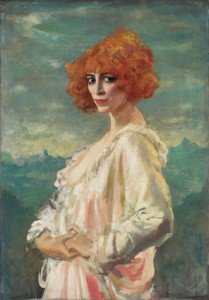 La marquesa Casati, por August Edwin John, 1919.