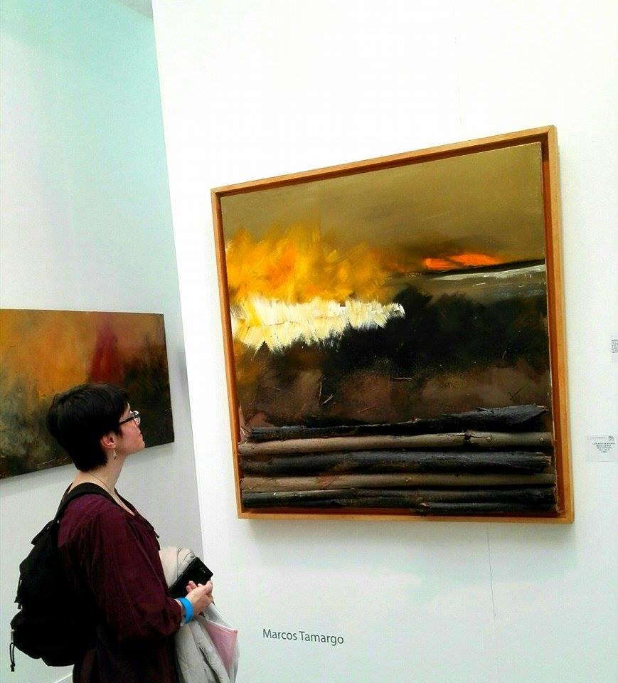 """""""La puesta de madera"""", Marcos Tamargo, Galería Rodrigo Juarranz."""