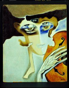 La marquesa Casati como Euterpe, por Alberto Martini, 1931.
