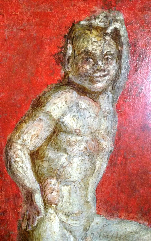 El sátiro de la alcoba nupcial antes de la restauración.