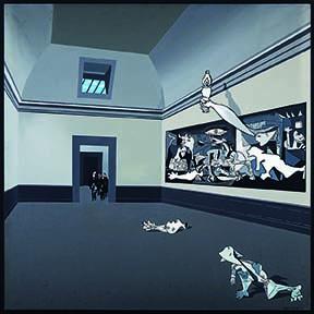 La visita, serie Guernica 69, 1969, acrílico sobre lienzo, 120 x 120 cm, colección privada.