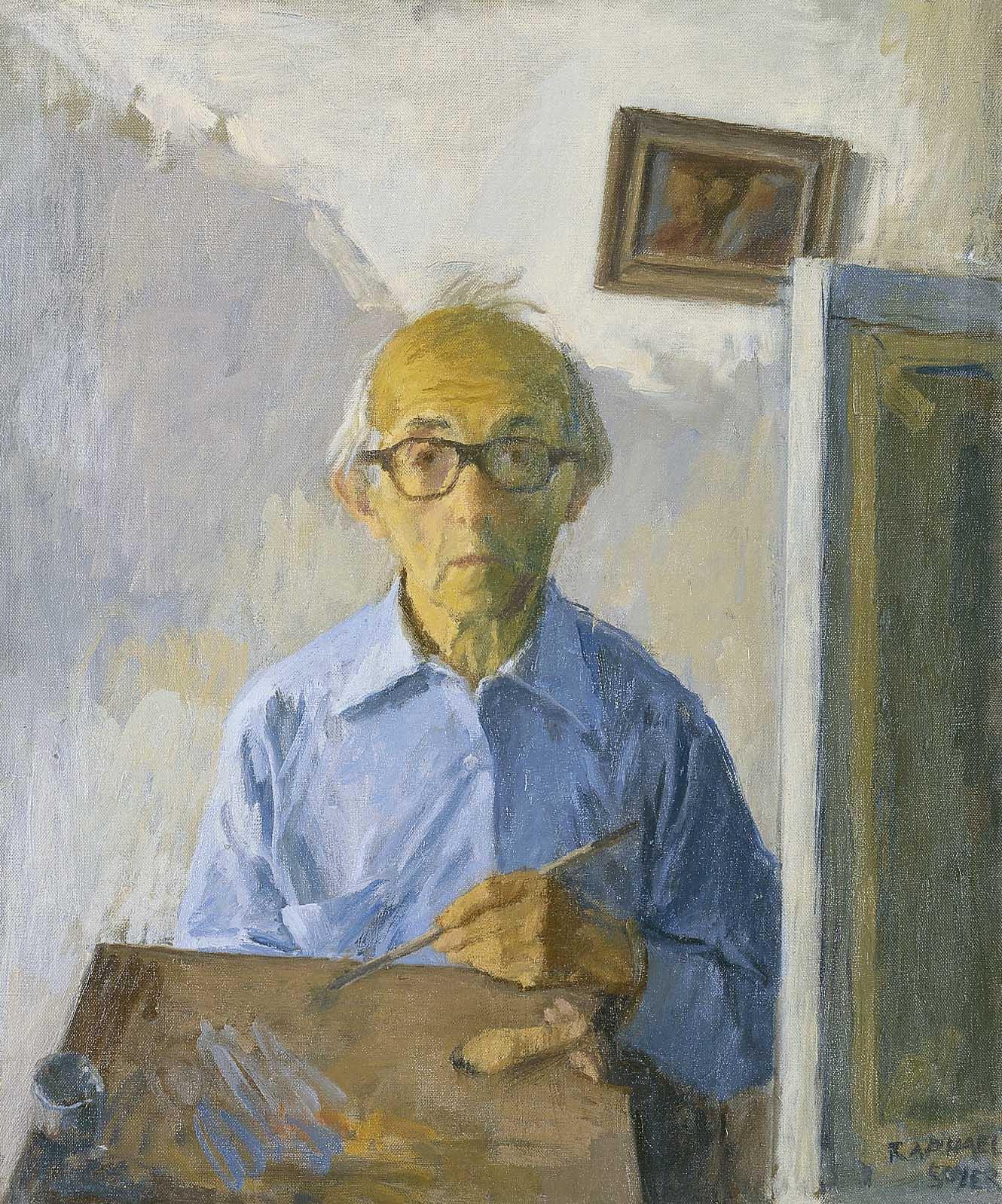 Autorretrato, Rapahel Soyer, 1980, óleo sobre lienzo, 61 x 50,8 cm,.