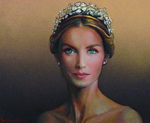 Reina Letizia, por Valentín Kovatchev, 2015, óleo sobre lienzo, 38 x 46 cm.