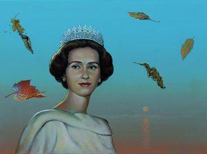 Reina Fabiola, por Valentín Kovatchev, 2015, óleo sobre lienzo, 55 x 73 cm.