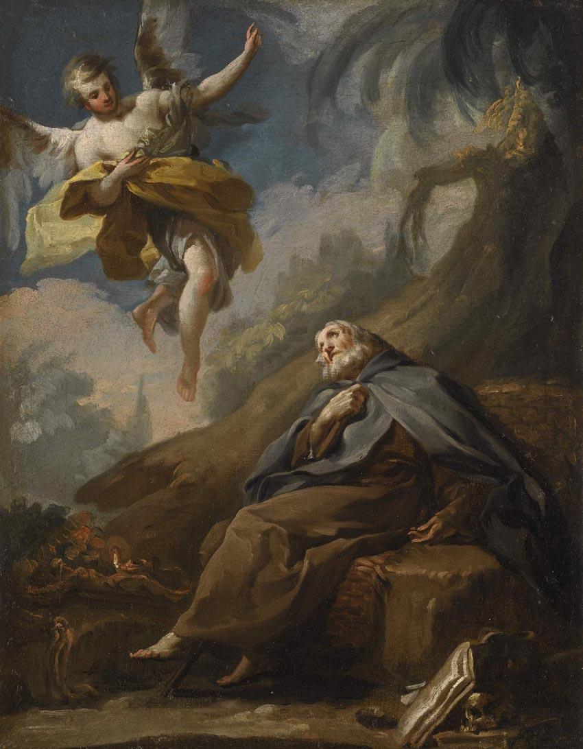 Muerte de san Antonio Abad, h. 1772, óleo sobre lienzo, 47,2 x 38,8 cm, Suiza, colección particular.