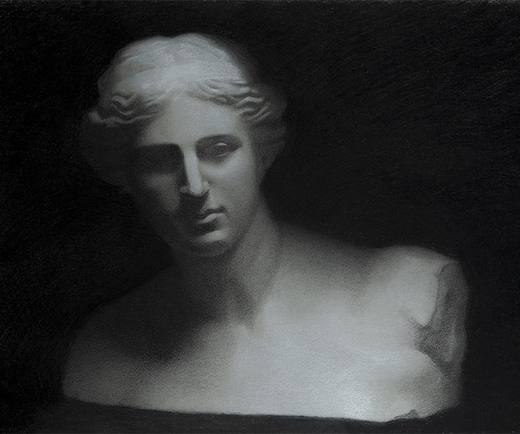 Dibujo perteneciente a la exposición del MEAM. Arriba, Obra del artista Frederic Amat, en la galería Dolors Junyent.