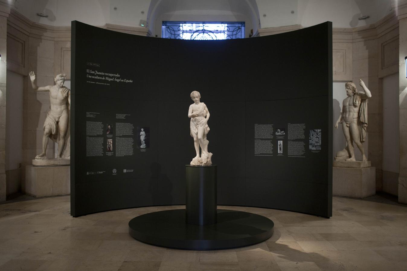 """San Juanito de Úbeda en el Museo del Prado en la exposición """"La obra invitada""""."""
