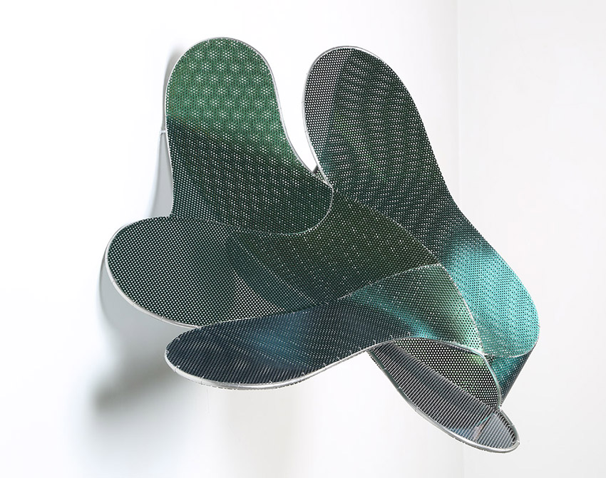 Tritón, 2014, acero inoxidable, 65 x 60 x 42 cm.