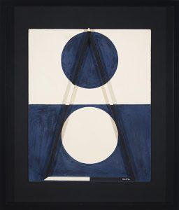Triángulo, por Sandú Darié, técnica mixta sobre tabla, 50 x 40 cm.